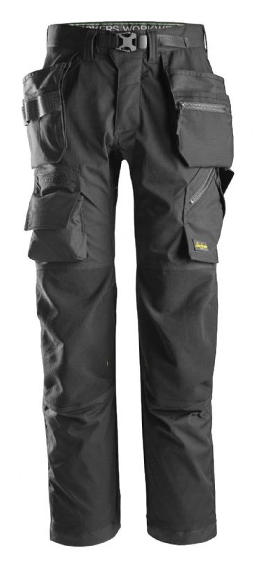 Snickers FlexiWork 6923 Floorlayer Work Trousers with Holster Pockets (Black)